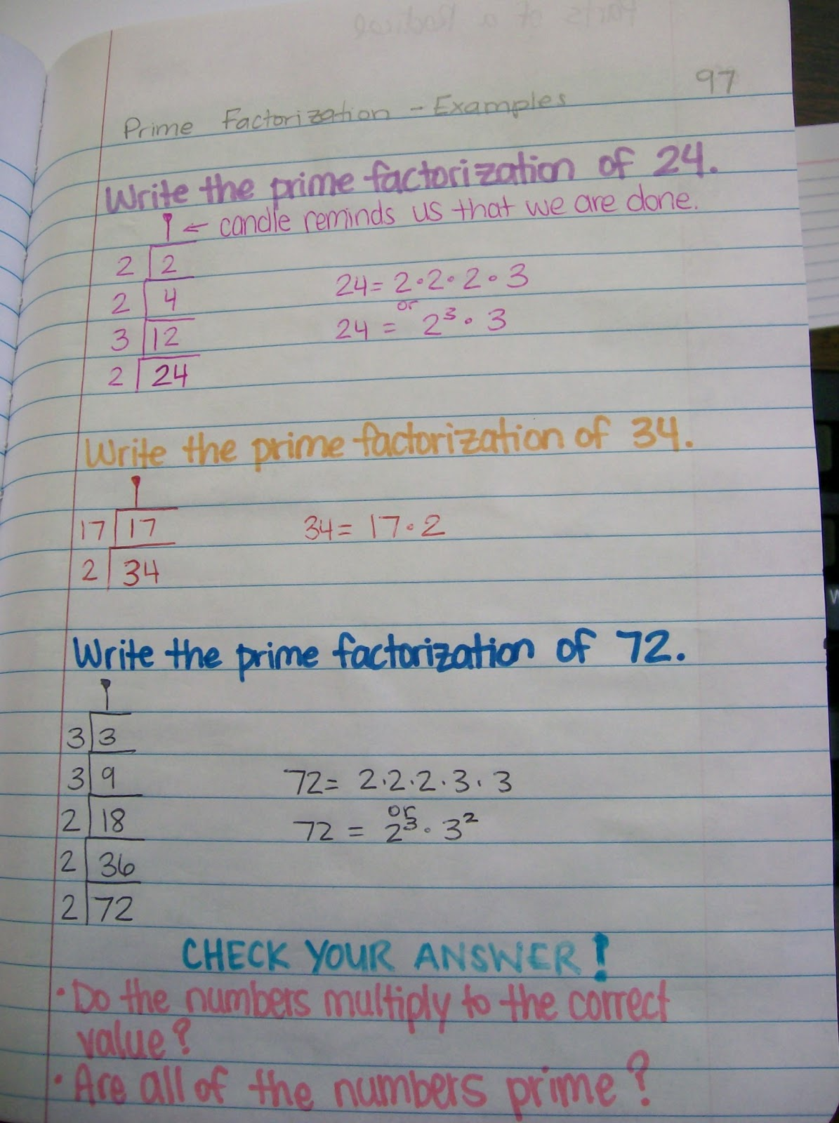 Math Love Prime Factorization Using The Birthday Cake
