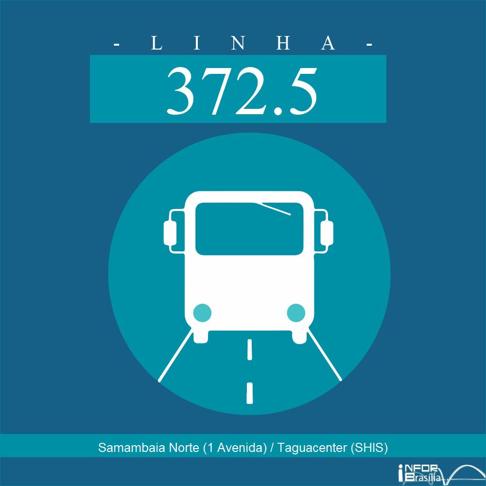 Horário de ônibus e itinerário 372.5 - Samambaia Norte (1 Avenida) / Taguacenter (SHIS)