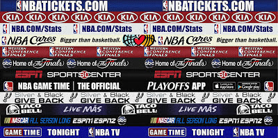 NBA 2K13 Spurs Dornas Finals (Court Ads)
