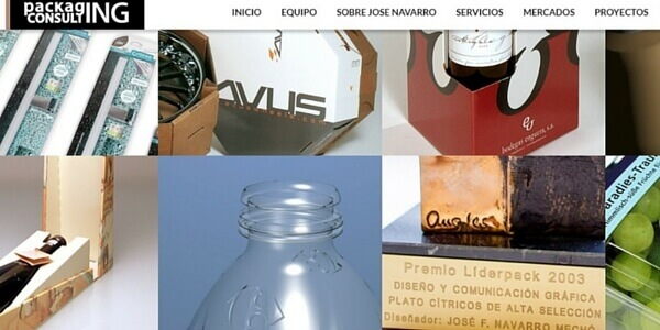 diferentes trabajos de packaging