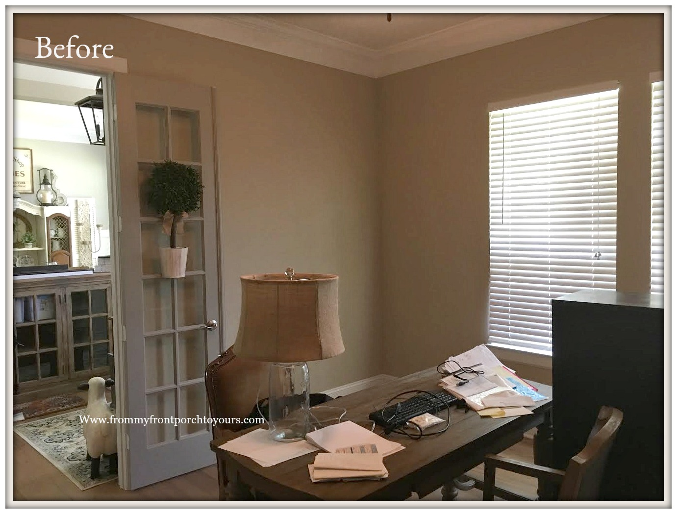 Home Office Makeover  Builder Grade From My Front Porch To Yours