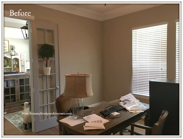 Home Office Makeover- Builder Grade-From My Front Porch To Yours