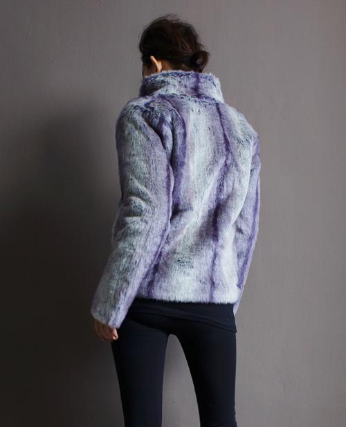Purple Faux Fur Jacket