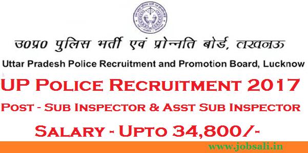 UPPRPB Sub inspector notification, UP Police vacancy, UP Police Sub Inspector Recruitment