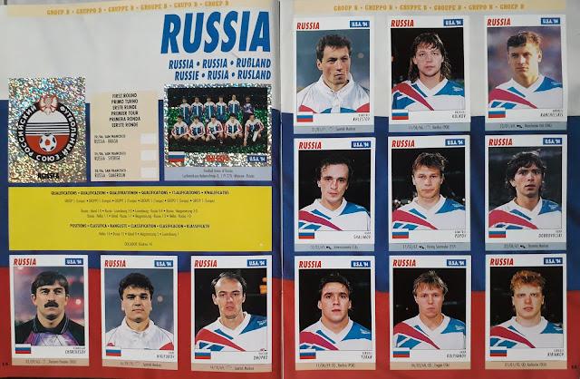 USA 94 WORLD SOCCER CHAMPIONSHIP GROUP B RUSSIA