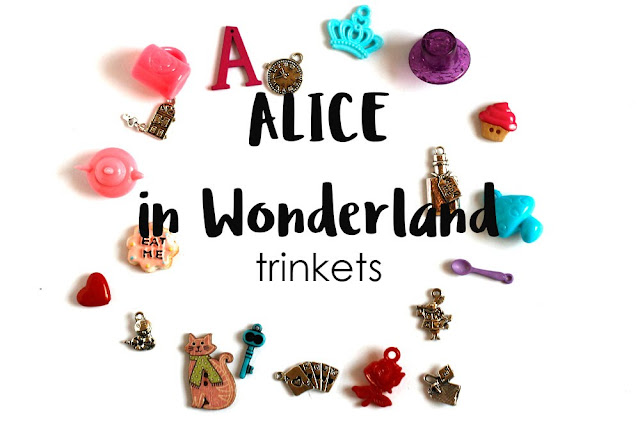 Alice in Wonderland Theme I Spy trinkets by TomToy