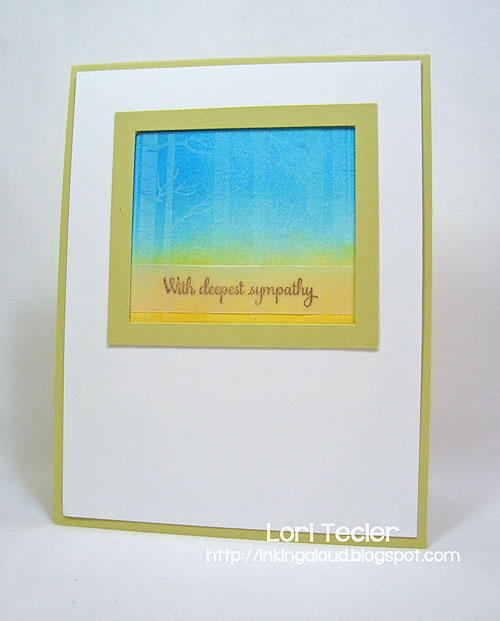 With Deepest Sympathy-designed by Lori Tecler/Inking Aloud-stamps from Papertrey Ink
