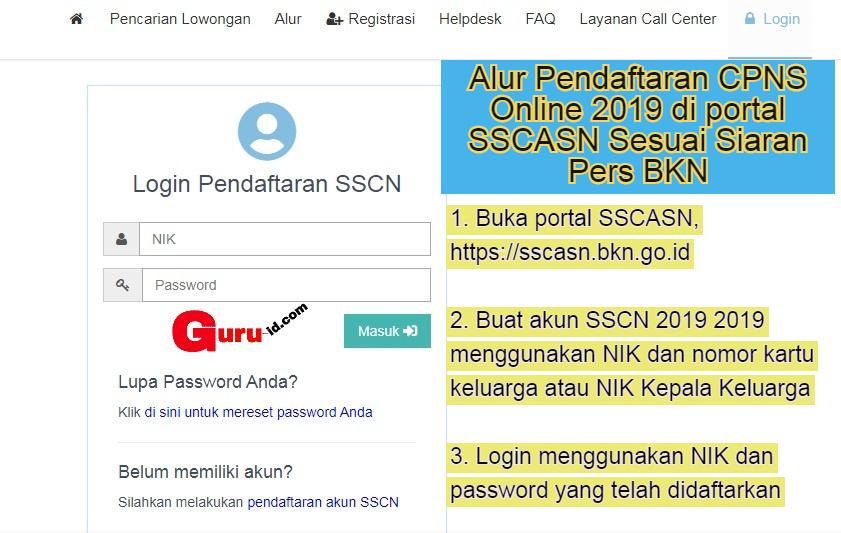 gambar cara daftar cpns 2019 di portal sscasn