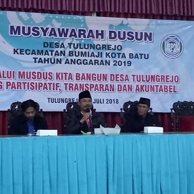 Ketua BPD Menyayangkan Perangkat Desa Tulungrejo Enggan Menghadiri Musyawarah Dusun Gondang