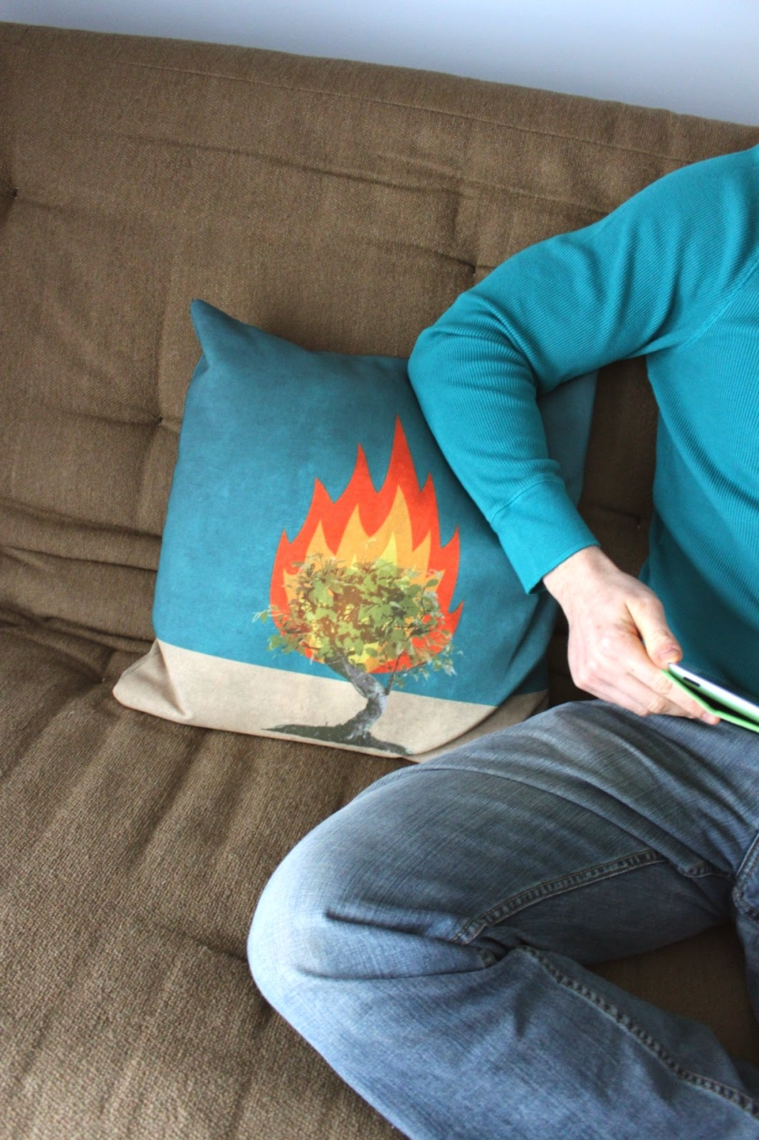 Burning Bush pillow and a giveaway | Land of Honey