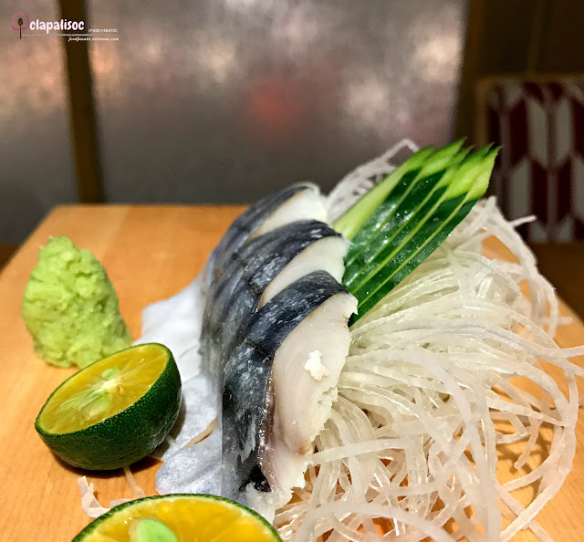 Shimisaba or vinegar-pickled mackerel from Tori Ichi BGC