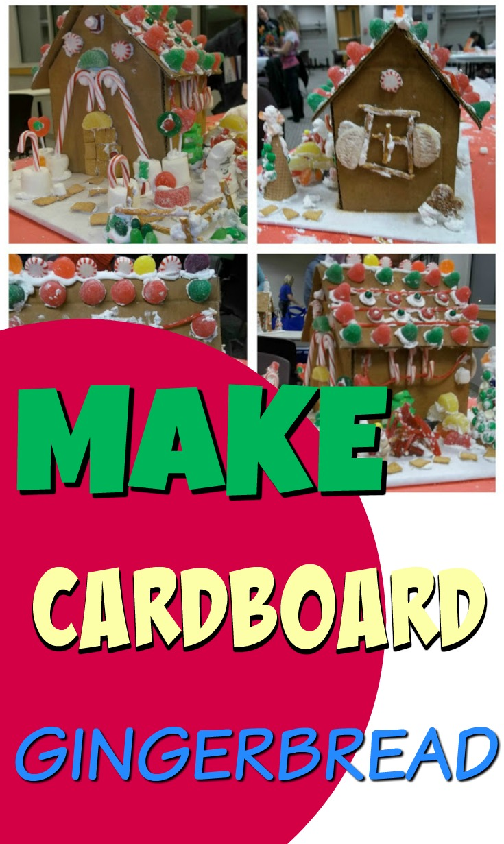 How to Build a Gingerbread House from Cardboard