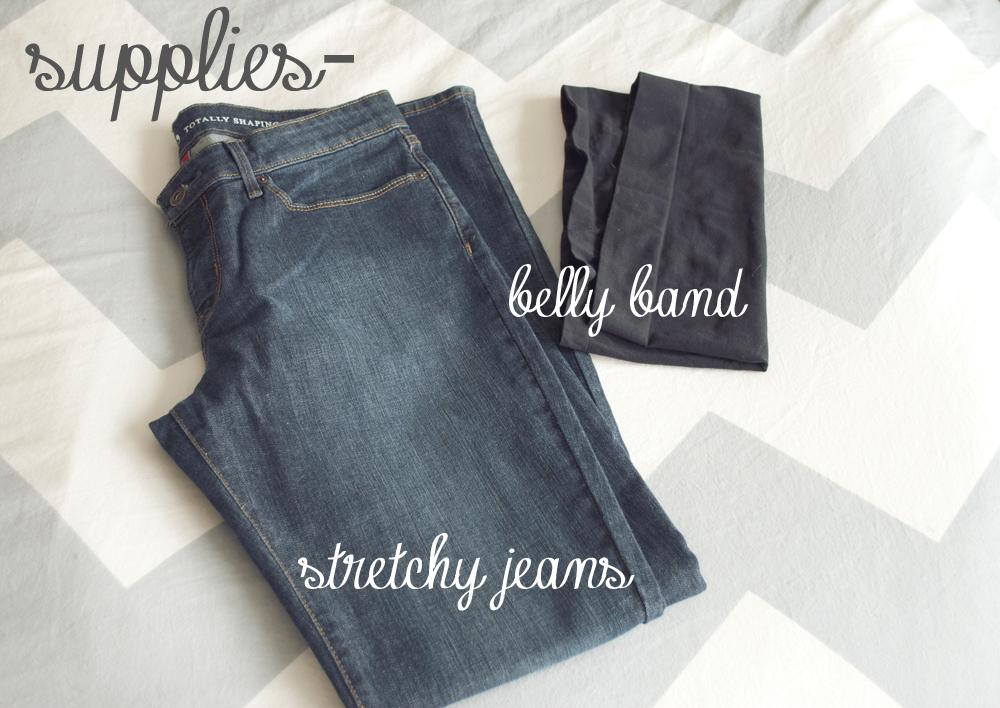 Pocketful Of Pretty Diy Maternity Jeans