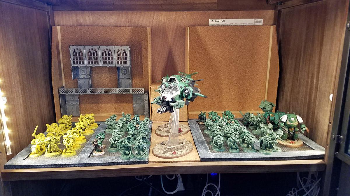 warhammer 40k refit display case progress pt 2