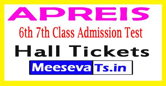 APREIS 6th 7th Class Admission Test Hall Tickets 2017