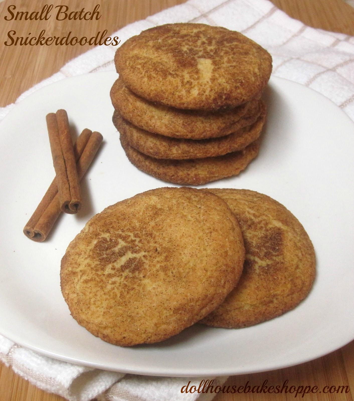 Small Batch Snickerdoodles Recipe