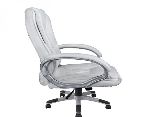 best buy bellezza© ergonomic office leather chair executive computer hydraulic white for sale