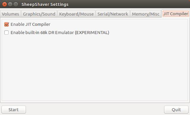Supratim Sanyal's Blog: Supratim Sanyal's Blog: SheepShaver Mac OS 9 JIT Compiler configuration Linux Ubuntu