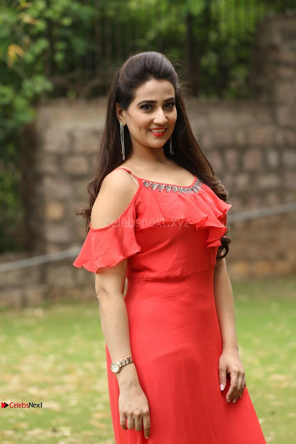Manjusha looks super cute beautiful in Red Dress ~  Exclusive 003.JPG