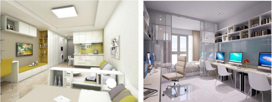 Mô hình căn hộ Officetel