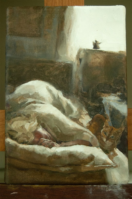 Figurative alla prima oil painting by Jacqueline Gomez