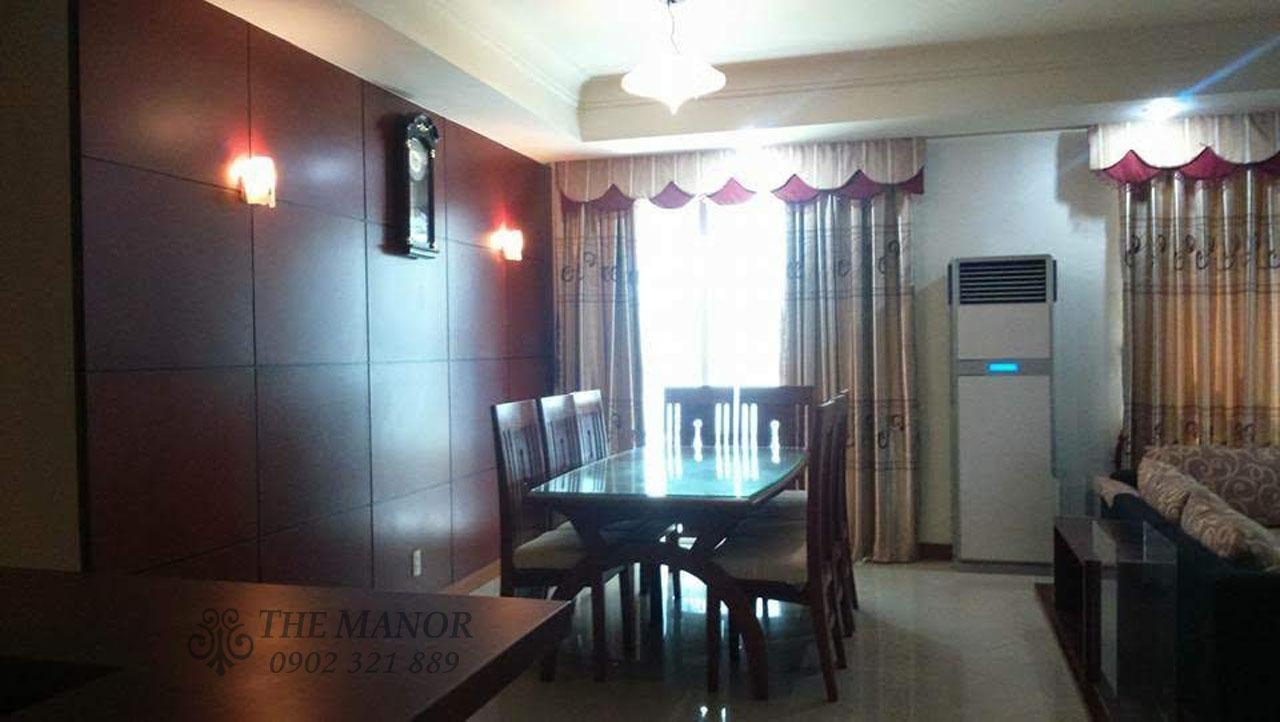Căn hộ 168m2 cho thuê tại The Manor quận Bình Thạnh 3PN - view bàn ăn