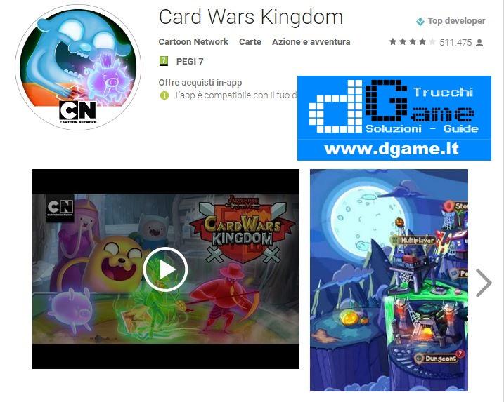 Trucchi Card Wars Kingdom Mod Apk Android v1.0.7
