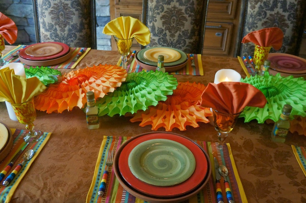 Beautiful, colorful table set for 5th of May