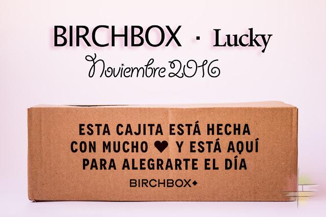 Birchbox Lucky con Agatha Paris: Noviembre de 2016