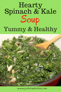 Healthy Spinach and Kale Soup