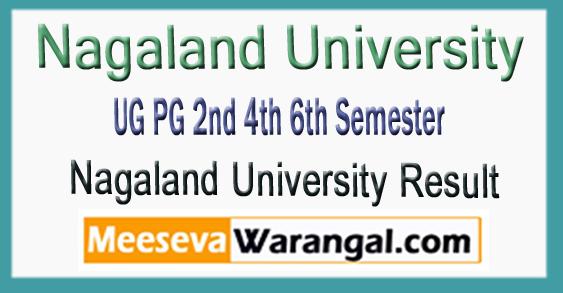 Nagaland University UG PG 2nd 4th 6th Semester Result 2018