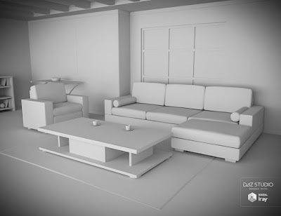 Interior Living Room Set