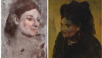 Retrato de una mujer pintada por Edgar Degas entre los años 1876 y 1880