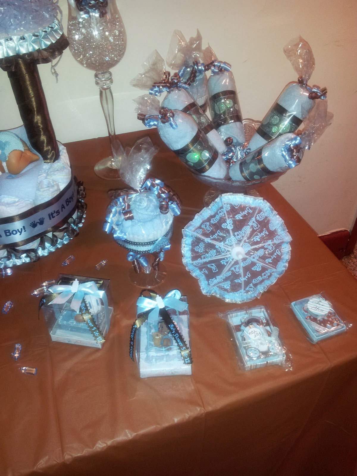 OhSoPrecious Events Light Blue and Brown Baby Shower