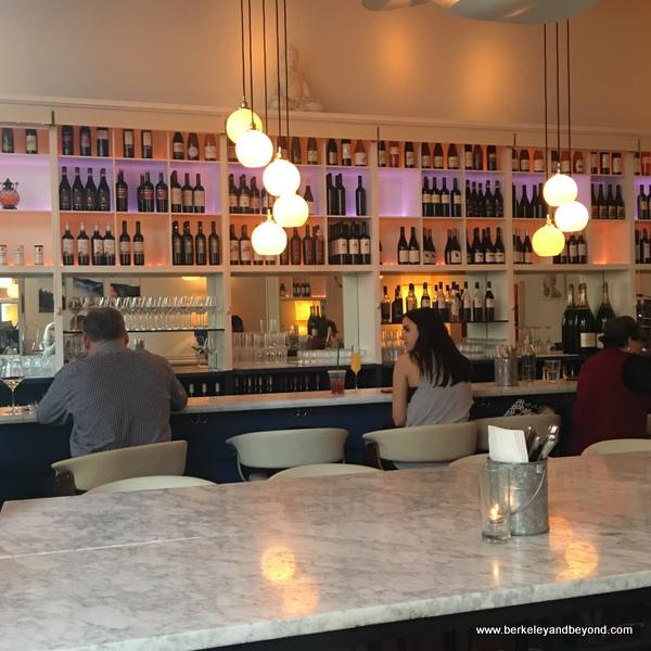 bar at Herlen Place wine bar in San Francisco, California