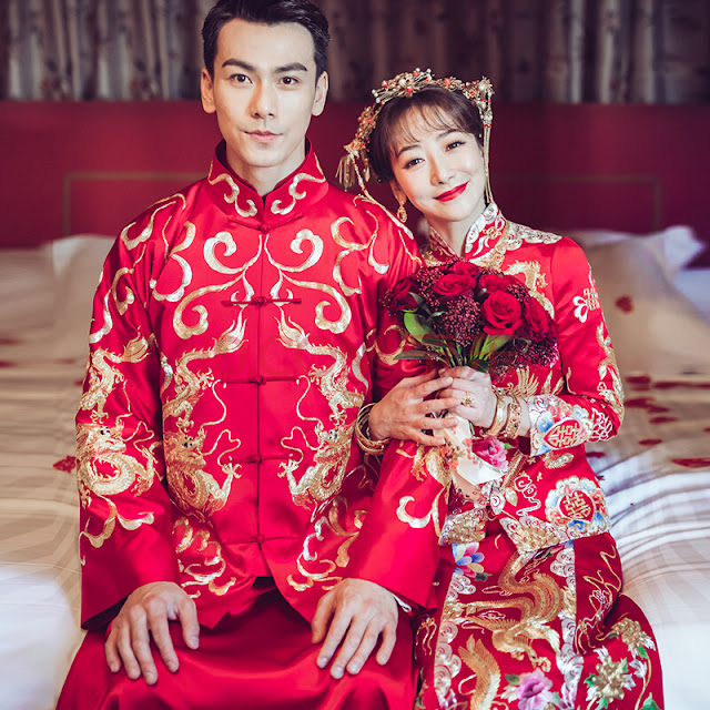 traditional Chinese wedding attire Dai Xiangyu Chen Zihan