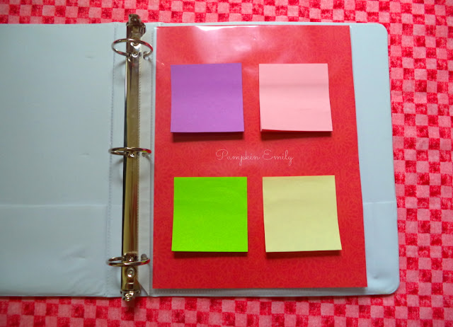 Sheet Protector for Post it Notes