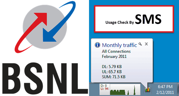BSNL Broadband Usage Check