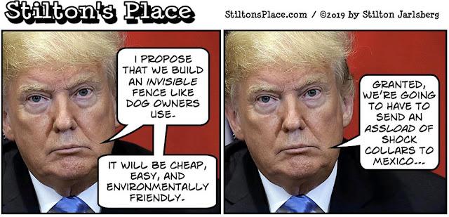 stilton's place, stilton, political, humor, conservative, cartoons, jokes, hope n' change, trump, border, wall, shutdown, pelosi, schumer