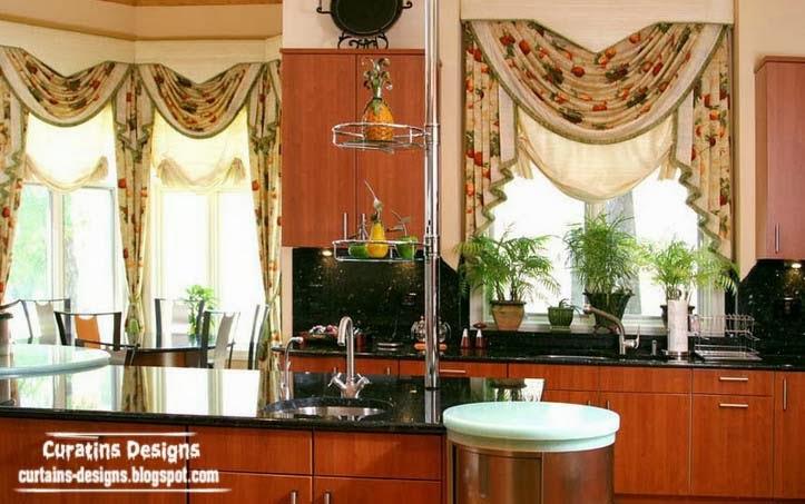 Unique Curtain Designs For Kitchen Windows, Kitchen