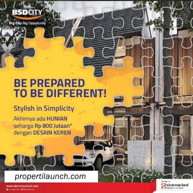 Cluster Baru BSD City Harga Rumah Rp. 800 Jutaan
