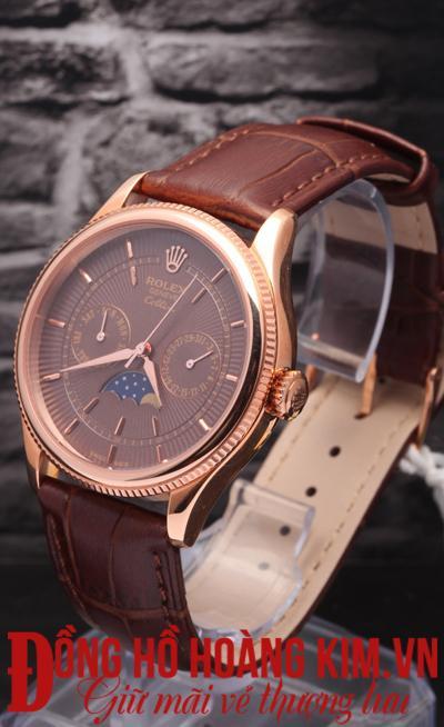 đồng hồ nam rolex dây da giảm giá cao cấp