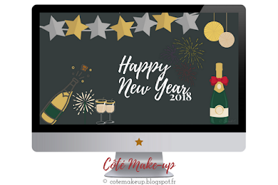 Fond d'écran Happy New Year 2018 by Côté Make-up #WallPaperCôtéMU
