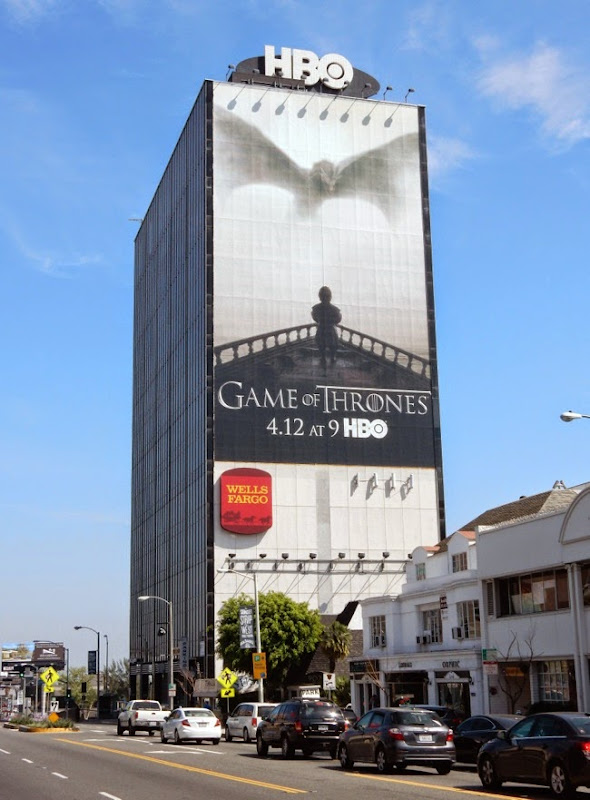Giant Game of Thrones season 5 billboard Sunset Strip