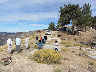 San Gabriel Mountains Trailbuilders visiting ruins of South Mt. Hawkins Fire Lookout