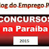 Concursos com inscrições abertas para o estado da Paraíba