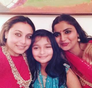 Rani Mukherjee with family members
