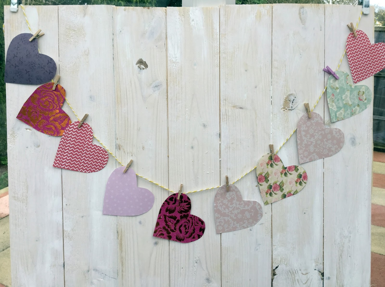 Heart bunting how to make — pic 1