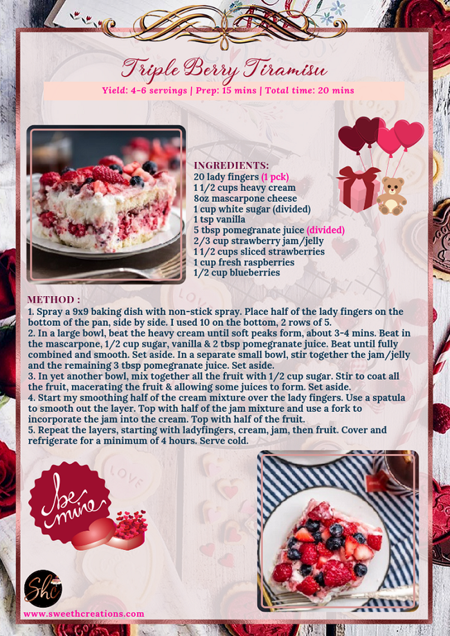 TRIPLE BERRY TIRAMISU RECIPE