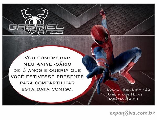 convites aniversario homem aranha voando - Convites de Aniversário do Homem Aranha